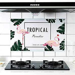 cheap Wall Stickers-High Temperature Resistant Stove Anti-oil Paste Kitchen Tile Oilproof Waterproof Sticker Household Self-adhesive Fume Wall Stick