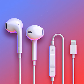 cheap Wired Earbuds-For IPhone In Ear Stereo Headphones with Microphone Wired Bluetooth Earphone for IPhone 8 7 Plus X XR XS Max 10 Headset