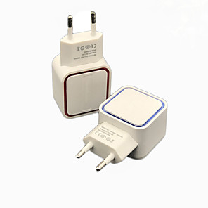 cheap USB Chargers-Universal 5V 1A LED Dual USB Wall Charger Home Travel Adapter Fast Charging EU US Plug For iphone Samsung Xiaomi Huawei J25