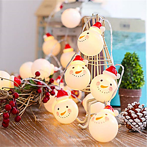 cheap LED Spot Lights-1pcs 1.5m 10 Leds LED Charming Christmas Snowman Shape String Light For Home Garden Party Wedding Christmas Party Xmas Decoration Lamp