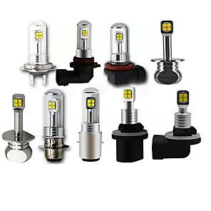 cheap Car Headlights-OTOLAMPARA 2pcs Ultra Bright Lightness H1 H3 9006 880 881 H9 H11 Foglight H4 H7 H8 Low Beam Headlight Replacement Bulb BA20D P15D Motorcycle Light Bulbs