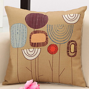 cheap Sale-1 pcs Cotton / Linen Pillow Cover & Insert, Geometic Novelty Throw Pillow