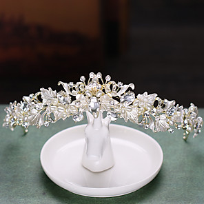 cheap Earrings-Alloy Tiaras with Crystal / Rhinestone 1 Piece Wedding / Special Occasion Headpiece