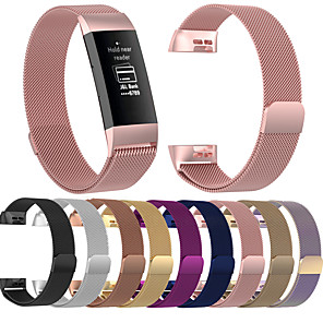 cheap Smartwatch Bands-Watch Band for Fitbit Charge 3 Fitbit Milanese Loop Stainless Steel Wrist Strap