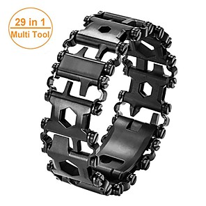 cheap Novelties-Man Outdoor Spliced Bracelet Leatherman Multi Tool Bracelet Stainless 29 In 1 Multi-function Tool Bracelet Survival Bracelet