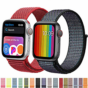 cheap Smartwatch Bands-Band For Apple Watch Series 5/4 /3/2/1 38mm 40mm  42mm 44mm Nylon Soft Breathable Replacement Strap Sport Loop for iwatch series
