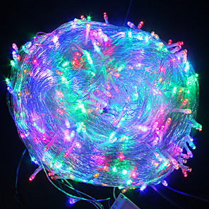 cheap LED String Lights-20m String Lights 200 LEDs 1 set Warm White White Blue Christmas New Year's Waterproof Party Decorative 220-240 V