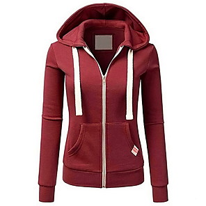 cheap Women's Boots-Women's Hoodie Solid Colored Basic Hoodies Sweatshirts  Wine Black Blushing Pink