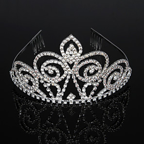 cheap Jewelry Sets-Cubic Zirconia / Rhinestone / Alloy Tiaras / Headbands / Headdress with Rhinestone / Crystal / Crystals / Rhinestones 1 Piece Wedding / Birthday Headpiece