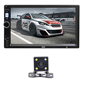 cheap Car DVD Players-SWM A4+4LED Camera 7 inch 2 DIN Android 8.1 Car MP5 Player Car Mulitimedia Player Touch Screen / GPS / Built-in Bluetooth Support RCA / HDMI / FM2 MPEG / MPG / WMV MP3 / WMA / WAV JPEG for universal