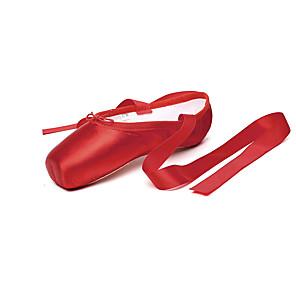 cheap Ballet Dancewear-Girls' Dance Shoes Ballet Shoes Dance Sneakers Flat Sneaker Flat Heel Black / Red / Performance / Satin / Practice
