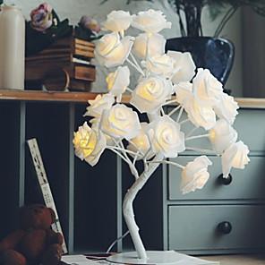 cheap LED String Lights-1 set LED Rose Tree Table Lamp Night Light Home Decoration Staycation Warm White Creative 220-240 V