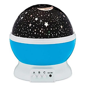 cheap Smart Lights-Star projector moon Lamp starry Night Light LED star light lampara luna USB Bedroom Party rechargeable night light for child