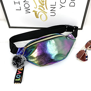 cheap Women's Sandals-Unisex Bags PU Leather Fanny Pack Glitter for Daily White / Black / Red / Fall & Winter