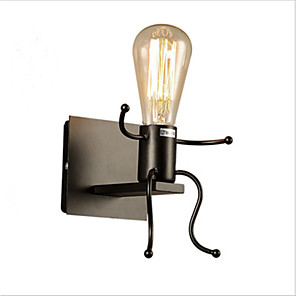 cheap Wall Sconces-Retro Industrial Wind Tieyi Wall Lamp Designer Personality Creative Corridor Man Robot Wall Lamp