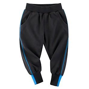 cheap Boys' Pants-Kids Boys' Color Block Pants Black
