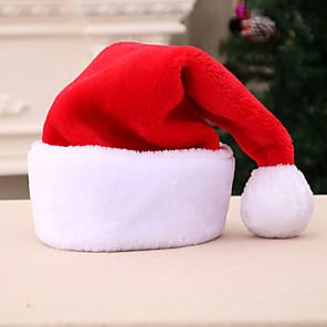economico Costumi da Babbo Natale & Costumi di Natale-Babbo Natale Cappelli Sguardo di famiglia Per bambini Festa in costume Natale Natale Velluto Cappelli