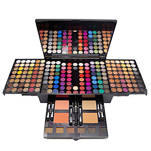 cheap Eyeshadows-180 Colors Eyeshadow Palette Eyeshadow Kit Contour Makeup Kit Matte Shiny Blush Highlighter Bronzer All-In-1 Professional Fashion Waterproof Long Lasting Daily Makeup Cosmetic Gift