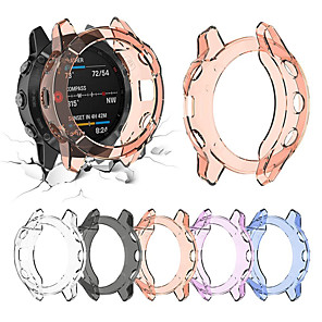 cheap Smartwatch Bands-Soft Crystal Clear TPU Protector Case Cover For Garmin Fenix 6 Pro Smart Watch Protective Accessories