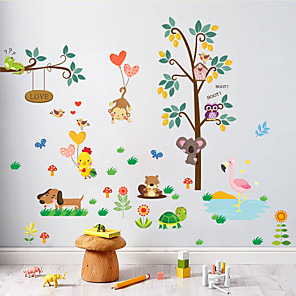cheap Wall Stickers-ZY176 New Owl Monkey Digital Children's Room Kindergarten Decoration Removable Sticker