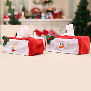 cheap Christmas Decorations-Christmas Tissue Box Decoration Set For Christmas Occasion Decoration