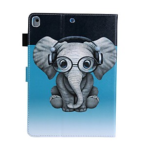cheap iPad case-Case For Apple iPad Air / iPad 4/3/2 / iPad (2018) Card Holder / with Stand / Pattern Full Body Cases Animal PU Leather
