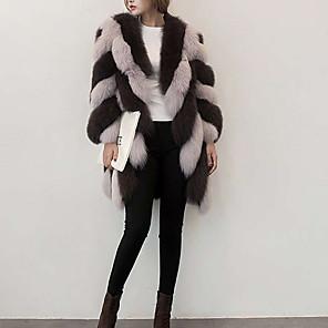 cheap Wedding Wraps-3/4 Length Sleeve / Long Sleeve Coats / Jackets / Basic Faux Fur / Fox Fur Wedding / Party / Evening Women's Wrap With Fur