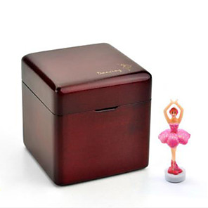 cheap Music Boxes-Music Box Wooden Music Box Antique Music Box Ballet Dancer Dancing Unique Wood Iron Women's Boys' Girls' Kid's Adults Adults' Graduation Gifts Toy Gift