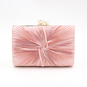 cheap Clutches & Evening Bags-Women's Pearls Polyester / Alloy Evening Bag Solid Color Blushing Pink