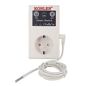 Недорогие Системы оповещения о взломе-16а розетка GSM розетка дистанционного управления выключатель питания датчик температуры умный дом реле контроллер смс приложение гараж дверь ворота открывалка