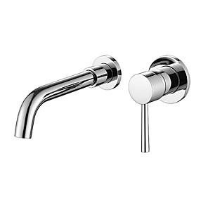 cheap Bathroom Sink Faucets-Bathroom Sink Faucet - Widespread Electroplated Free Standing Single Handle One HoleBath Taps