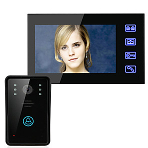 cheap Video Door Phone Systems-MOUNTAINONE SY816A11 Wired Built in out Speaker 7 inch Hands-free One to One video doorphone