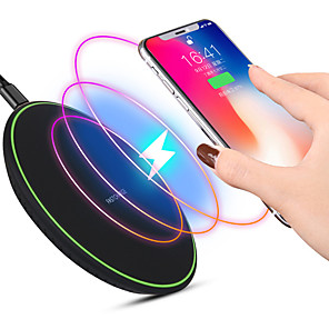 cheap Wireless Chargers-Ultra thin QI Wireless Fast Charger Mobile Phone Wireless Fast Charging Pad for iPhone SANSUNG