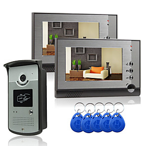 cheap Doorbell Systems-Wired 7 Inch Hands-free 800*480 Pixel One To One Video Doorphone