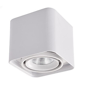 cheap LED Ceiling Light-Simple Square LED Open Mounted Downlight Single Head Adjustable Ceiling Spot Light 10W