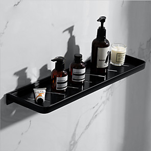 cheap Towel Bars-Simple Bathroom Shelf Creative Contemporary Aluminum 2pc Single Wall Mounted