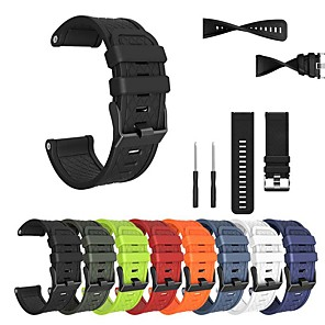 cheap Smartwatch Bands-Watch Band for Fenix 5x / Fenix 3 HR / Fenix 3/2 Garmin Classic Buckle Silicone Wrist Strap