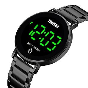 cheap Shower Curtains-SKMEI Men's Digital LED Smartwatch Water Resistant / Waterproof Waterproof Hollow Engraving Casual Watch Cool / Large Dial