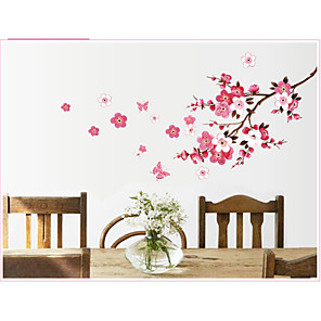 cheap Wall Stickers-Decorative Wall Stickers - Plane Wall Stickers Still Life / Floral / Botanical Bedroom / Kids Room