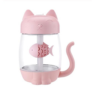cheap Humidifiers-3 in 1 350ML USB Cat Air Humidifier Ultrasonic Cool-Mist Adorable Mini Humidifier With LED Light Mini USB Fan for Home office