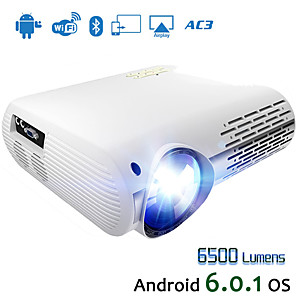 cheap Projectors-HODIENG HDG M2 Video Projector For Full HD 4K*2K Home Cinema Projector With 5G WIFI Android 6.0 OS 6500 Lumens Proyector