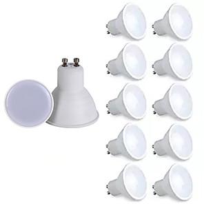 cheap LED Spot Lights-10pcs Dimmable GU10 Lampada LED Bulb 6W 220V Bombillas LED Lamp Spotlight Lampara Spot Light Decoration Warm White Cold White