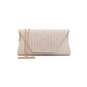 cheap Clutches & Evening Bags-Women's Rivet / Chain Card Paper / Polyester Evening Bag Solid Color Black / White / Almond
