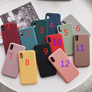cheap iPhone Cases-Case For Apple iPhone 11 / iPhone 11 Pro / iPhone 11 Pro Max Frosted Back Cover Solid Colored TPU