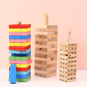 cheap Christmas Toys-1 pcs Board Game Jenga Wooden Stress and Anxiety Relief Parent-Child Interaction Kid's Adults' Toys Gifts