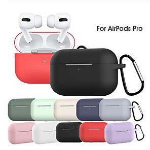 cheap Earphone Accessories-Case For AirPods Pro Waterproof / Dustproof Headphone Case Soft