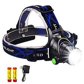 povoljno Baterijske svjetiljke-TD286 Svjetiljke za glavu Svjetlo za bicikle Vodootporno Zoomable 800 lm LED LED 1 emiteri s baterijama i punjačem Vodootporno Zoomable Može se puniti Podesivi fokus Kampiranje / planinarenje