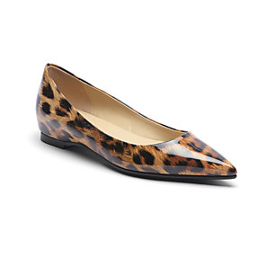 cheap Handbag & Totes-Women's Flats Flat Heel Pointed Toe Patent Leather Spring &  Fall Leopard