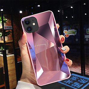 cheap iPhone Cases-Case For iPhone 11/11Pro/11ProMax/X/XS/XR/XSmax/8P/8/7P/7/6P/6 Shockproof / Mirror Back Cover Geometric Pattern Acrylic