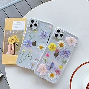 cheap iPhone Cases-Case For Apple iPhone 11 / iPhone 11 Pro / iPhone 11 Pro Max Transparent / Pattern Back Cover Transparent / Flower TPU